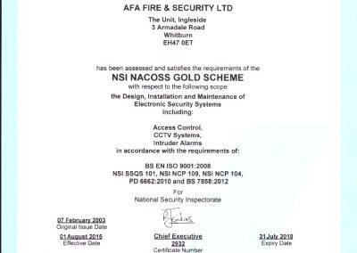 NSI NACOS Gold Certificate
